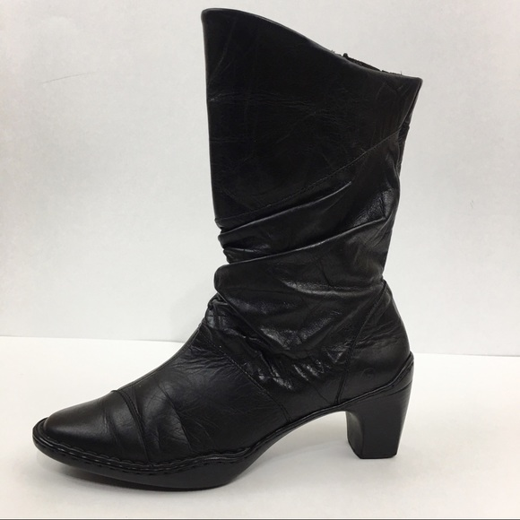 buy online coupon codes cheaper Josef Seibel Calla 05 Black Heeled Slouchy Boot